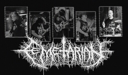 CEMETARIAN sign with HELLS HEADBANGERS
